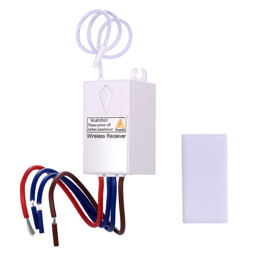 AC 180~275V Wireless Switch Receiver Controller No Wiring Remote Control House Lighting & Appliances