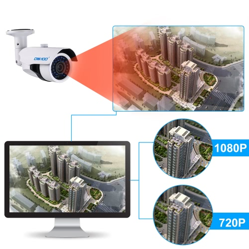 OWSOO 4*1080P  AHD IR CCTV Camera + 4*60ft  Cable