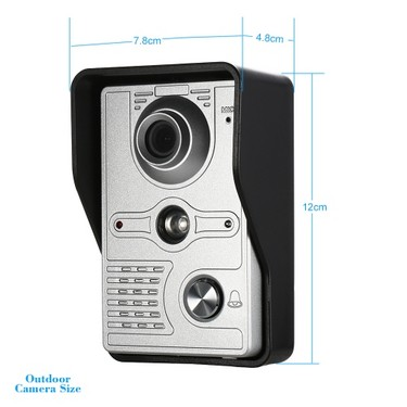 OWSOO 7 inch Wired Video Doorbell with Snapshot Record