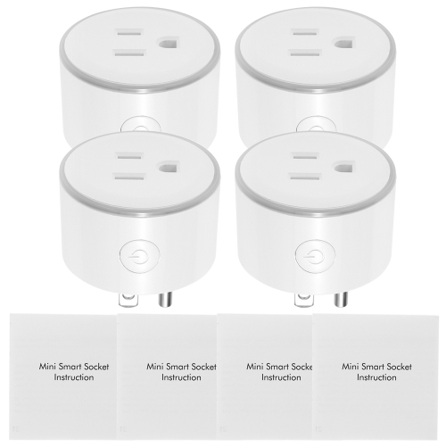 WiFi Smart Plug LED Indicator Voice Control for Amazon Alexa and for Google Home IFTTT (4 pack)