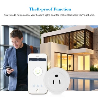 Mini Wifi Smart US Plug Voice Control for Amazon Alexa for Google Home/Nest IFTTT For TP-Link (2 Pack)
