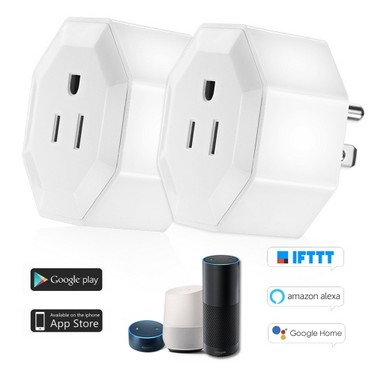2PCS Wireless WIFI Smart Plug US Outlet WI-FI Socket
