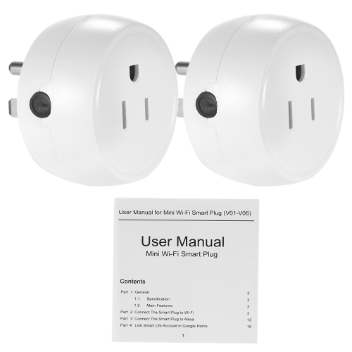 2PCS Wireless WIFI Smart Plug US Outlet