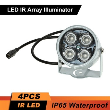 4pcs High Power LED IR Array Illuminator IR Lamp for CCTV Security Camera Silver