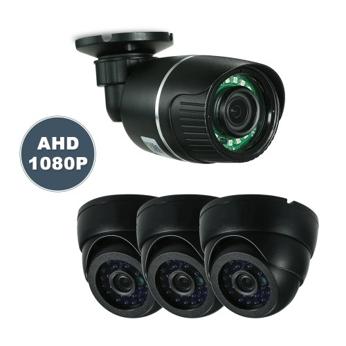 4CH 1080P AHD Dome+Bullet CCTV Camera System