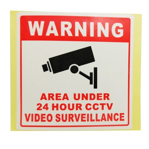 PVC Home CCTV Video Surveillance Security Camera Alarm Sticker