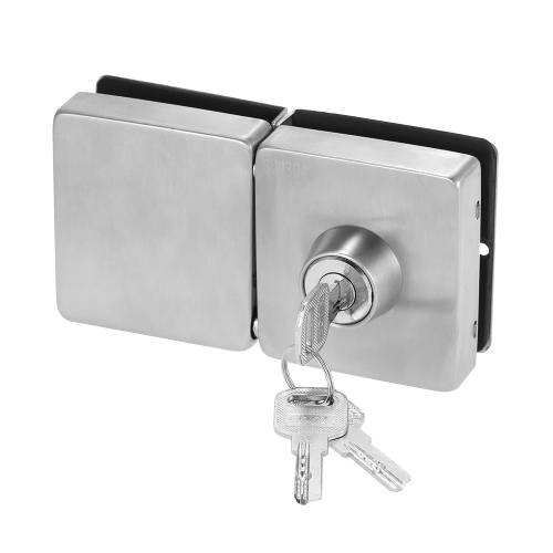 Entry Gate 10-12mm Glass Swing Push Sliding Door Lock with 3 Keys