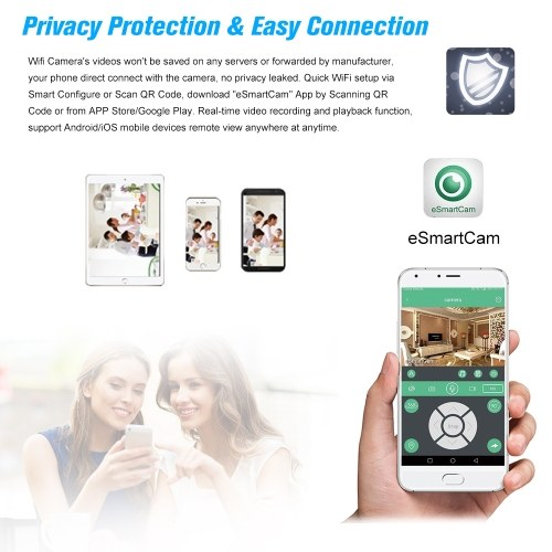 WiFi Camera 433MHz Burglar Alarm Video IP Camera