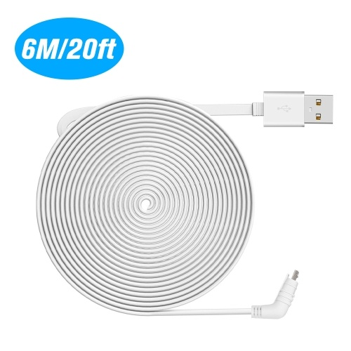 Flat Cable Aluminium Alloy Micro USB Cable Charging/Power Cord without Plug