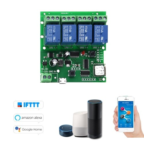 Sonoff 4CH-5V/7-32V Smart Remote Control Wireless Switch Universal Module