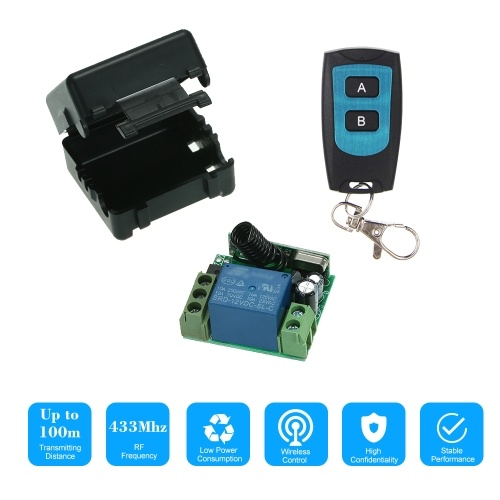 Wireless Remote Switch Relay Receiver and 1PCS RF Transmitter Remote Controls