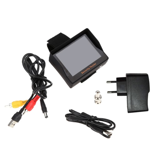 3.5″ TFT Color LED Portable Test Monitor CCTV Camera Security Tester for Surveillance Audio Video Input