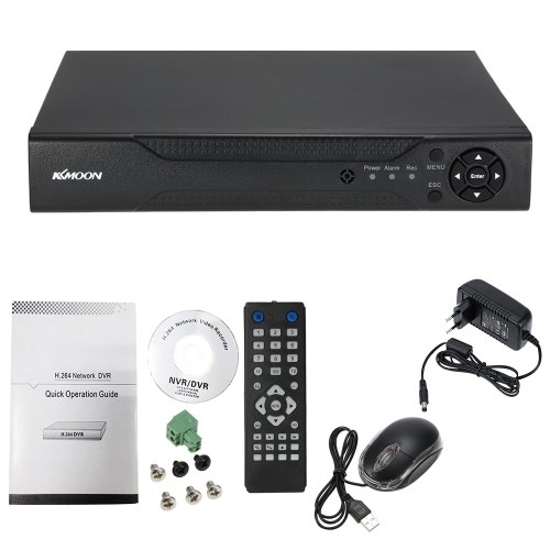 KKmoon 4 Channel 1280*720P CCTV Network DVR H.264 HD Home Security System Alarm Email