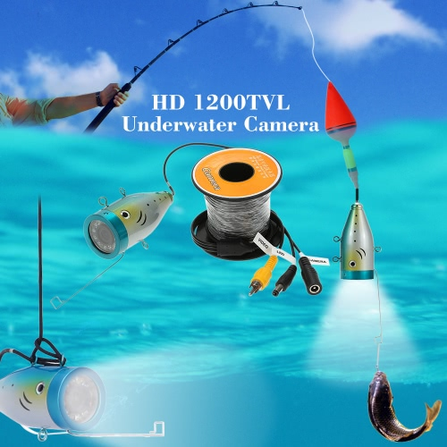 30M HD 1200TVL CCTV Camera Underwater Fish Finder for Ice/Sea/River Fishing