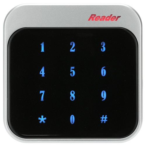 RFID 13.56MHz Proximity Smart IC Card Reader Touch Keyboard Wiegand26/34 for Door Entry Access Control System