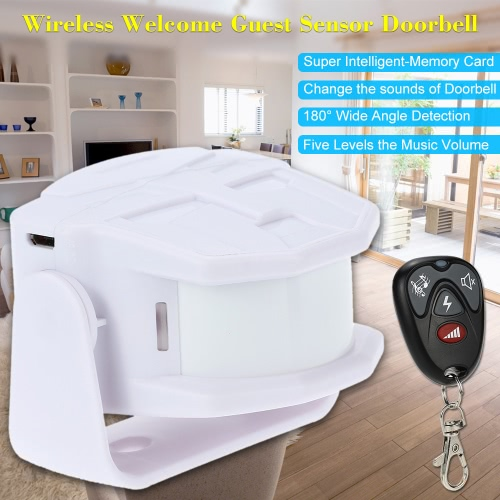 Wireless Infrared Sensor MP3 Welcome Guest Doorbell Alarm Motion Sensor Detector