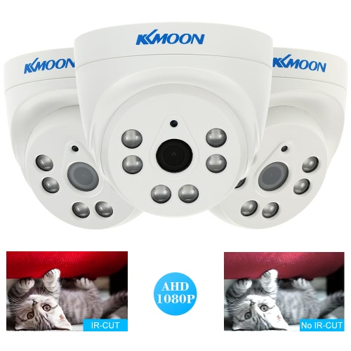 "KKmoon  1080P 2.0MP Dome AHD Surveillance Camera Analog CCTV Security Indoor 3.6mm 6 Array IR LEDS Night Vision 1/3"" CMOS IR-CUT PAL System"