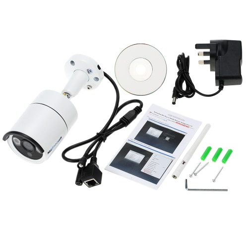 szsinocam HD Megapixels 720P Wireless Wifi Camera + 8G TF Card CCTV Surveillance Security P2P Network IP Cloud Indoor Outdoor Bullet Camera support Onvif2.4 Weatherproof IR-CUT Night View Motion Detection Email Alarm Android/iOS APP Free CMS 3pcs Array LEDs