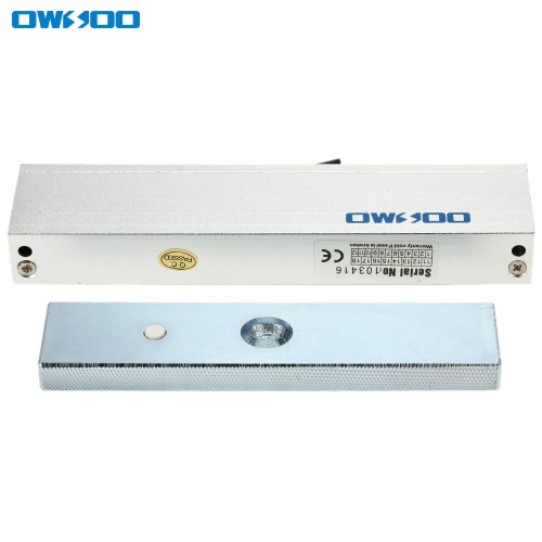 OWSOO  180KG 350lbs Holding Force Electric Magnetic Lock For Door Access Control System Electromagnet Fail-Safe NC Mode
