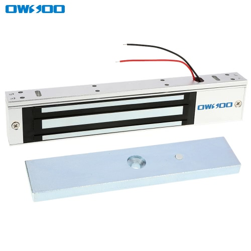 OWSOO  280KG 600lbs Holding Force Electric Magnetic Lock For Door Access Control System Electromagnet Fail-Safe NC Mode