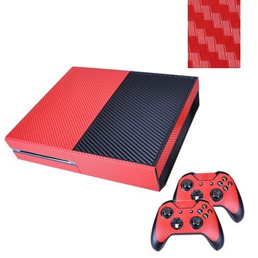 Original Citywolf Carbon Fiber Skin Sticker Cover Protector Red for Xbox One & Game Controller