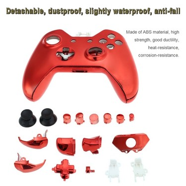 Gamepad Shell Dual Shock Controller Shell Cover Case with Buttons Red for XBOX ONE