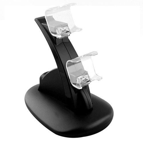 Black ABS Dual USB Charging Dock Station Stand for Playstation 4 PS4 Gaming Controller Charge Holder with Cable