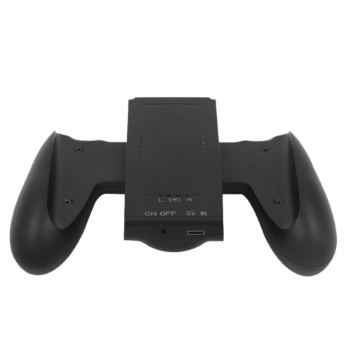 Portable Charging Grip Controller Handle Grips Comfort Holder for Nintendo Switch Joy-Con Black with 1500mAh Rechargeable Battery