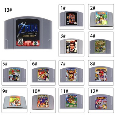 For Nintendo 64 N64 Mario Smash Bros Zelda Video Game Cartridge Console Card 64 Bit Games English Language US Version (Conker's Bad Fur Day )