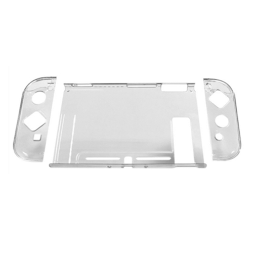 for Nintend Switch Case Hard Crystal Protective Transparent Cover Shell for Nintend NS NX Switch Console Case Cover + Thumb Caps White