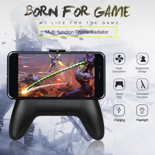 Mobile Phone Radiator Gamepad Cooling Handle 1300mAh Power Bank Mobile Phone Holder Fashlight