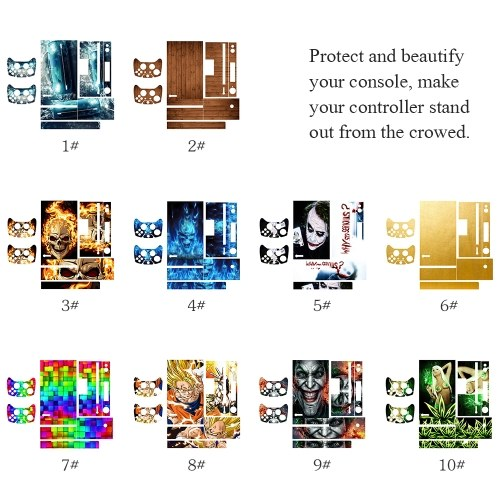 Stylish Full Body Protective Vinyl Skin Decal for Xbox one Console Playstation Console Controller Skins Stickers Style 5