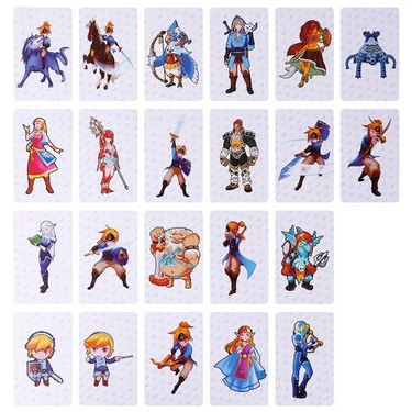 22PCS PVC NFC Tag Game Cards The Legend of Zelda: Breath of the Wild For Switch Style 1