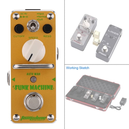 AROMA AFK-3 Funk Machine Auto Wah Electric Guitar Effect Pedal