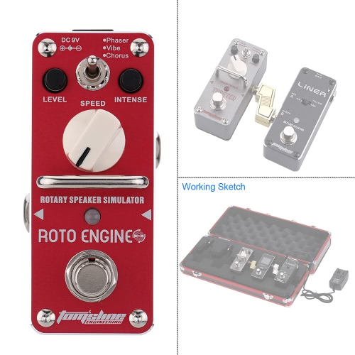 AROMA ARE-3 Roto Engine Rotary Speaker Simulator Mini Single Electric Guitar Effect Pedal with True Bypass