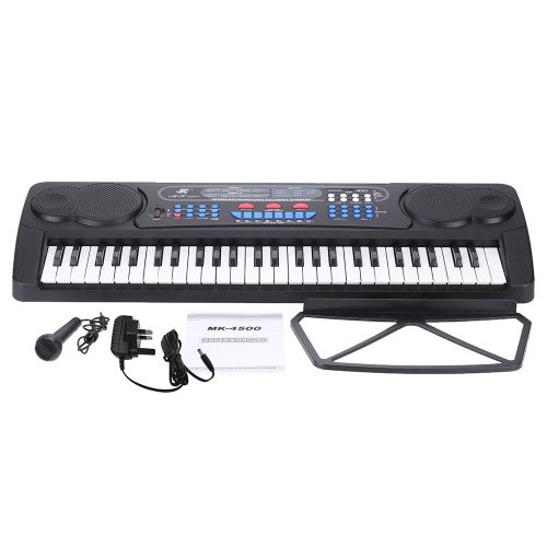 54 Keys Multifunction Toy-Type Electronic Keyboard Electronic Piano Organ with Music Stand & Microphone