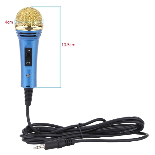 Mini Condenser Wired Network K Song Recording Mic Microphone with Stand for Smartphone PC Computer