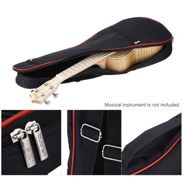 600D Oxford Bag Case Backpack Adjustable Shoulder Strap 8mm Thicken Padding for 21″ Ukelele
