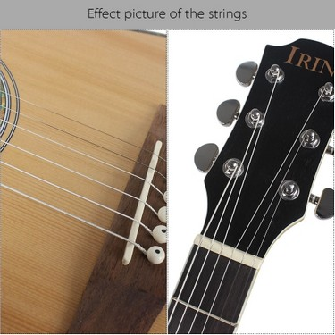Stainless Steel Silver-Plated Copper Alloy Wound 1st-6th (.010-.047) 6pcs Acoustic Guitar Strings String Set