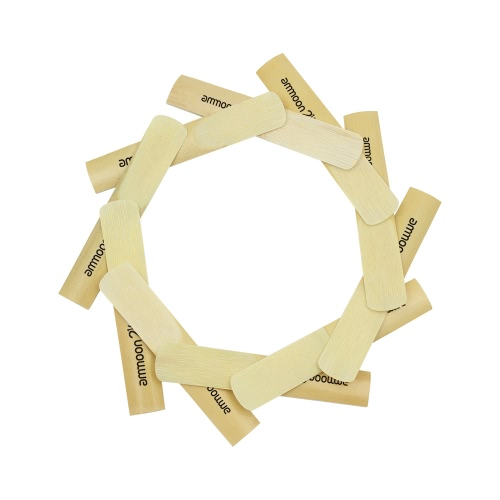 ammoon 10pcs 2.5 2-1/2 for bB Tenor Saxophone Sax Bamboo Reeds Accessory Part