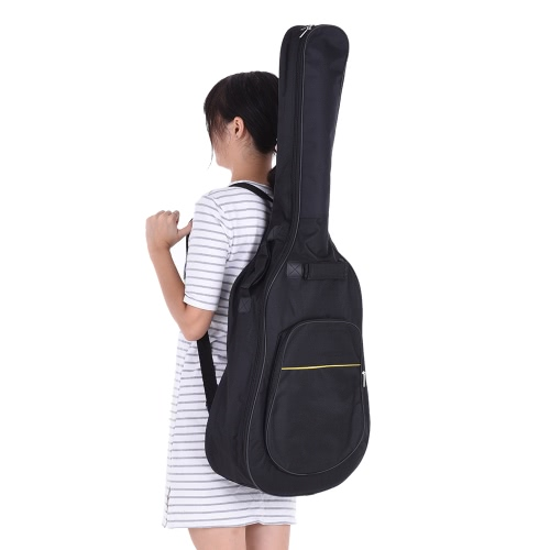 41″ Acoustic Classical Guitar Bag Case Backpack Adjustable Shoulder Strap Portable 4mm Thicken Padded Black