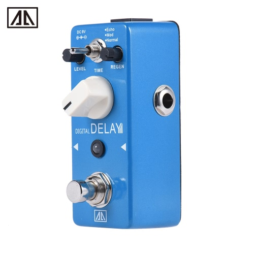 AROMA APE-5 Digital Delay Guitar Effect Pedal 3 Modes Dealy Effects Aluminum Alloy Body True Bypass