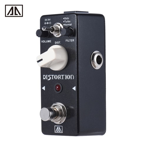 AROMA ABT-5 Classic Distortion Guitar Effect Pedal Warm Smooth Wide Range Distortion Sound 3 Modes Aluminum Alloy Body True Bypass