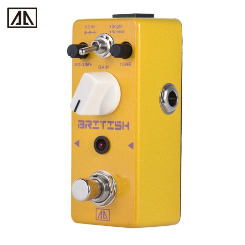 AROMA APN-5 Classic British Style Distortion Guitar Effect Pedal 2 Modes Aluminum Alloy Body True Bypass
