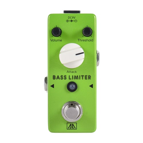 AROMA ABL-5 Mini Bass Limiter Electric Bass Guitar Effect Pedal Aluminum Alloy Body True Bypass