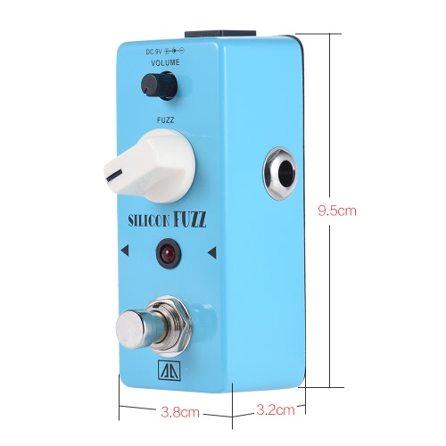 AROMA ASF-5 Classic Silicon Transistor Fuzz Guitar Effect Pedal Aluminum Alloy Body True Bypass