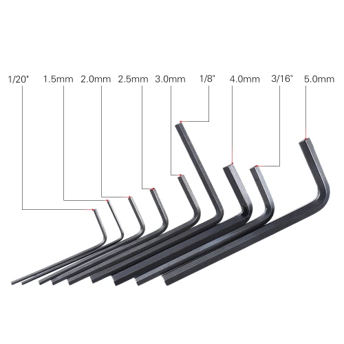 9pcs Guitar Bass Neck Bridge Screw Truss Rod Adjustment Wrench Set Repair Tool