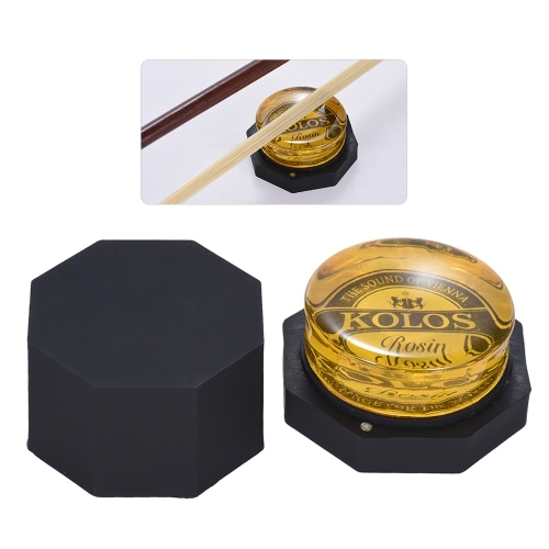 High-Class Low Dust Red Rosin Colophony Transparent Rounded Universal for Bowed String Musical Instrument Violin Viola Cello Erhu