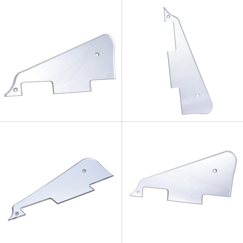 Electric Guitar Pickguard Scratch Plate for Gibson Les Paul Style Replacement Part Silver Mirror