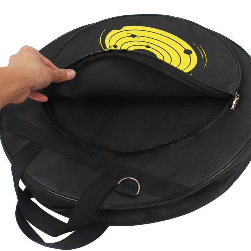 21-Inch Cymbal Bag Backpack Three Pockets with Removable Divider Shoulder Strap